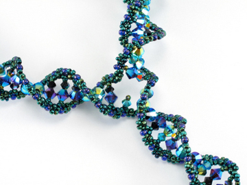 DNA replication fork necklace detail