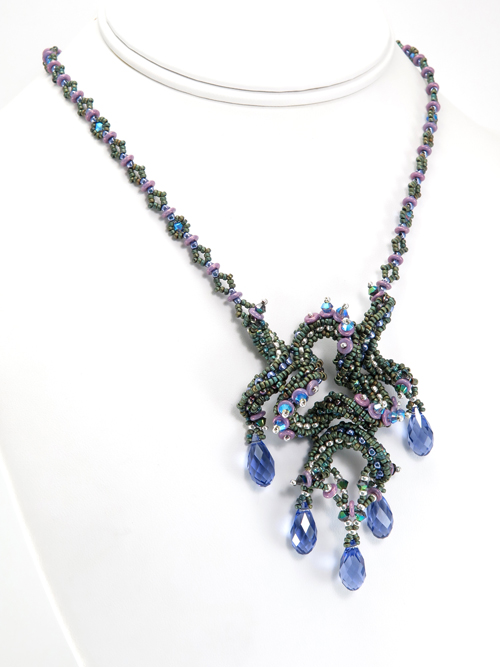 Dancing Droplets Necklace by Cindy Holsclaw