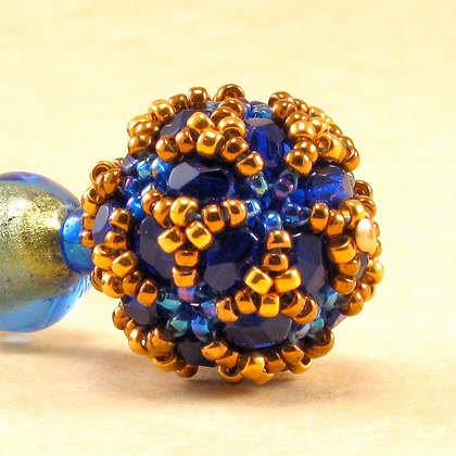 disco ball blue and gold detail
