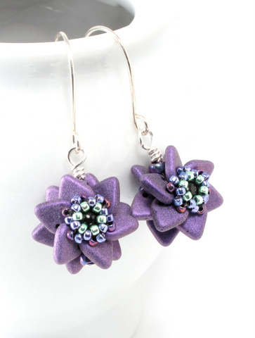 double pinwheel earrings