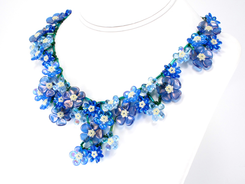 Sakura Bouquet Necklace by Cindy Holsclaw