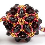 Circle Starburst Beaded Bead