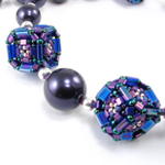 Cubed Tilas Beaded Bead Necklace