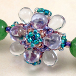 Double Bubble Jacks Beaded Bead