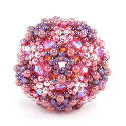 Crystal Ball Beaded Bead