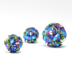 Crystal Helix Beaded Beads