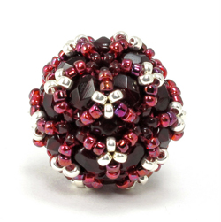 Disco Ball Beaded Bead