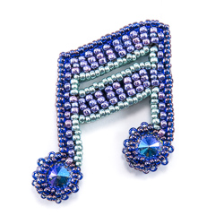 bead origami music notes pattern