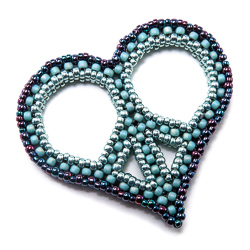Peace Heart Pendant by Cindy Holsclaw
